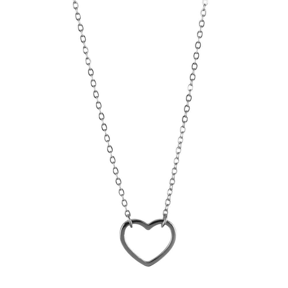 Silver necklace pendant with heart P-54, 37-41 см, 1.73 g